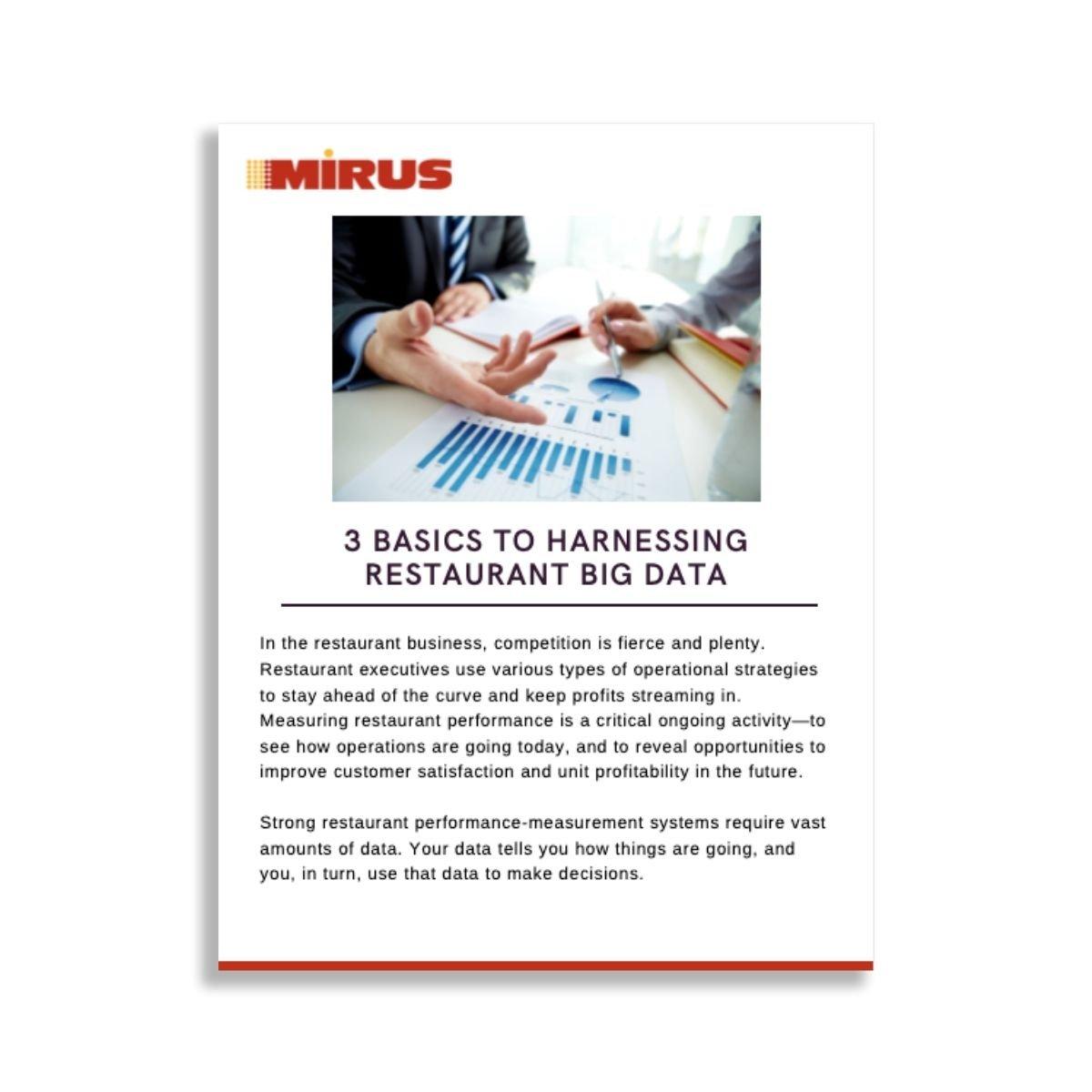 3 Basics to Harnessing Restaurant Big Data Graphic