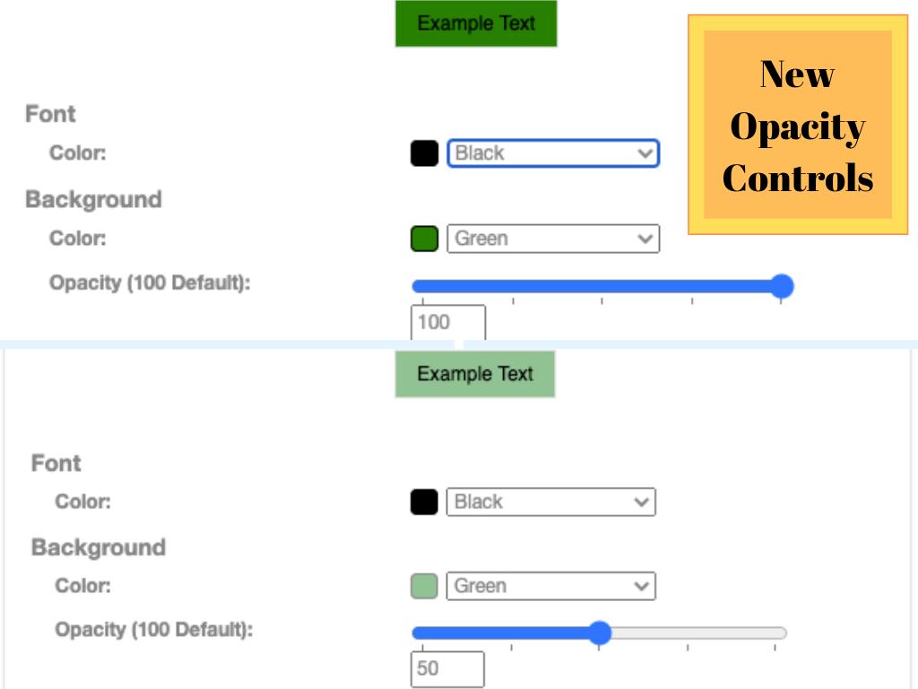 Font Control Opacity
