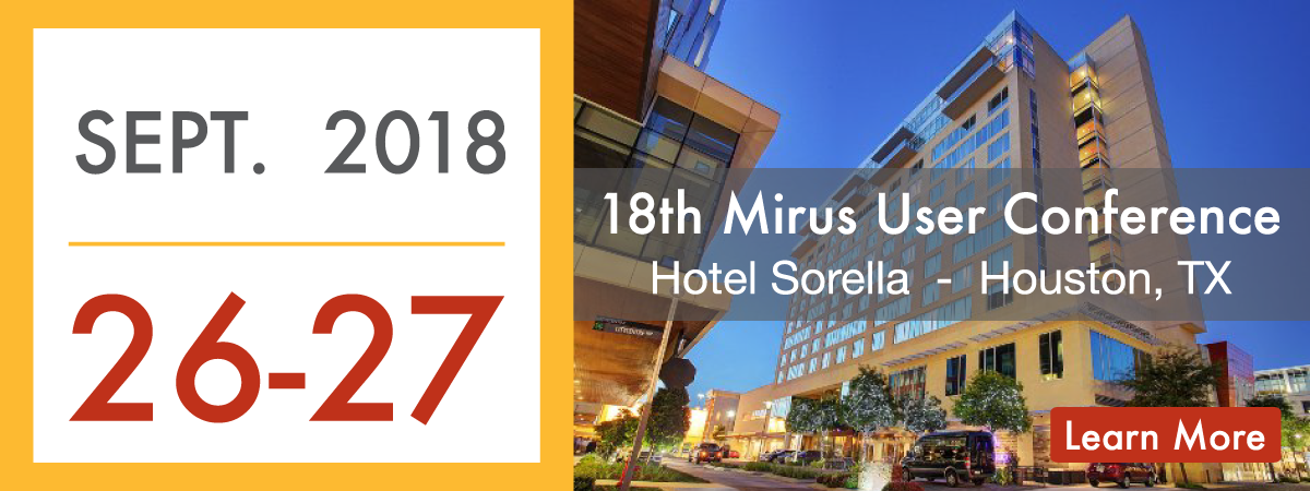 Mirus User Conference 2018